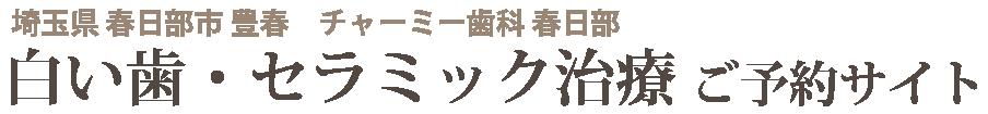春日部市豊春 白い歯・セラミック|春日部『セラミック治療』専門サイト